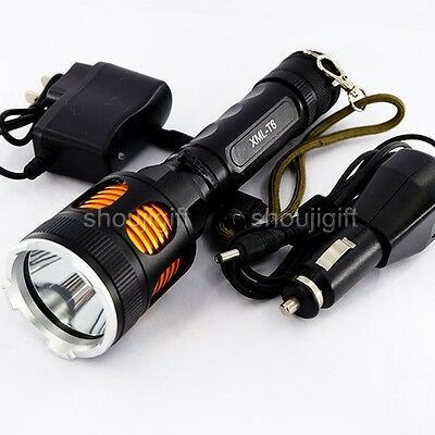Car/Wall Rechargeable CREE XM-L T6 LED 1200 Lumens COP Flashlight Torch +Charger