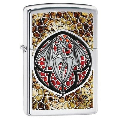 Zippo 29253, Anne Stokes Dragon, High Polish Chrome Finish Lighter