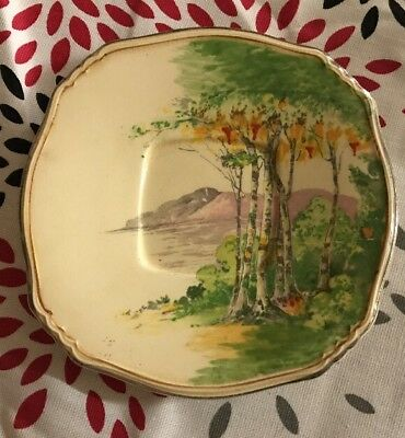 """Royal Winton """"Paradise"""" 2920 hand Painted England Saucer"""