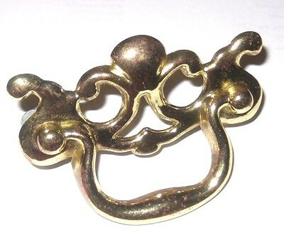 Lot of 9 Vintage Brass / Gold Hollywood Regency Dresser Desk Drawer Pull Handles