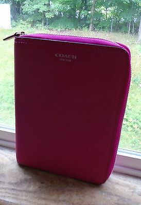 Coach Pink Leather Planner Agenda