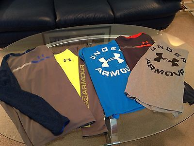 Lot Of 5 Underarmour Under Armour Lightweight Hoodies Boys Youth Size Xl