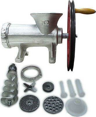 #32 Meat Grinder Motor Pulley 2 Plate 3 Sausage Stuffer Ball Bearing