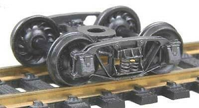"Kadee HO scale # 509  Andrews 1898 Metal Sprung Trucks ~ 33""  RP-25 wheels ~"