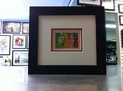 "James Rizzi 3-D "" My Home Town "" Signed & Numbered 2002 Mini Framed"
