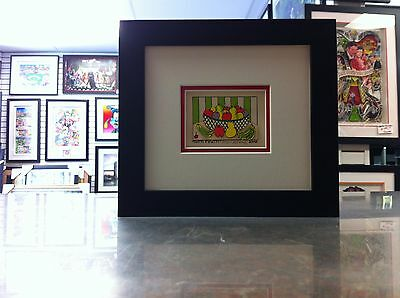 "James Rizzi 3-D "" Tutti Frutti "" Signed & Numbered 2002 Mini Framed"