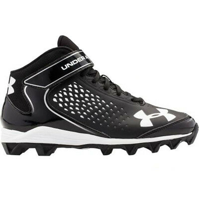 New Mens UA Under Armour Renegade RM Mid Football Cleats Black/White - Pick Size