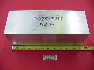 "D 3.93""x 4.33""x 11.25"" ALUMINUM 7475-T7351 Solid Plate Mill Bar Stock Alcoa 7075"