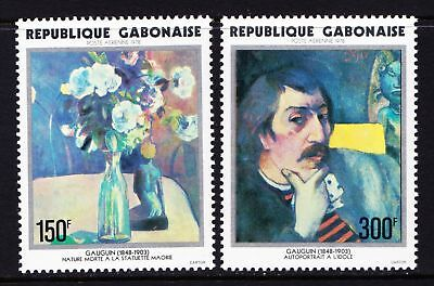 GABON 1978 Paul Gauguin Artist - ART - MNH pair - Cat £8.25 - (52)