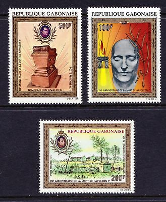 GABON 1971 Anniversary of the Death of Napoleon ART - MNH - Cat £18.25 - (46)