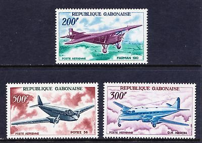 GABON  1967 Airmail - Famous Aircraft Airplanes - MNH - Cat £25 - (36)