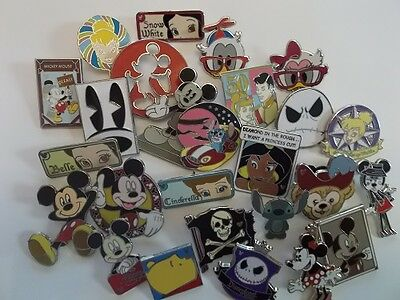 Lot of 25 Disney Trading Pins   Fast Free Shipping    No Double Pins     D101