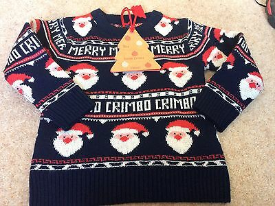 Boys Next Christmas Jumper 18-24 Mths New With Tags