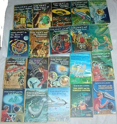 Lot of 20 Tom Swift Jr. HC picture covers