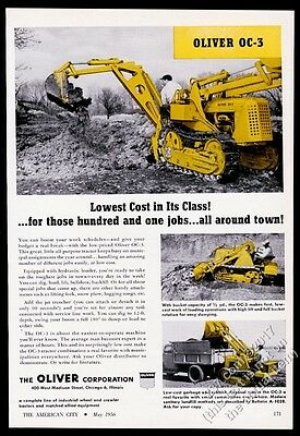 1956 Oliver tractor OC3 OC-3 3 photo vintage trade print ad