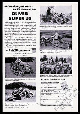 1956 Oliver tractor Super 55 5 photo vintage trade print ad