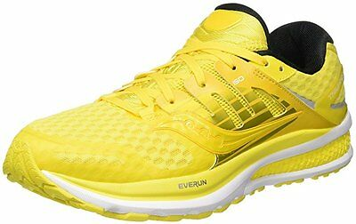 Saucony Mens TRIUMPH ISO 2 running shoes size 10 NEW LEMON YELLOW RUN POPS