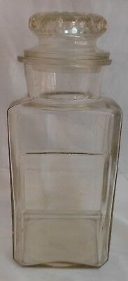 Large Old Glass Apothecary Jar And Lid