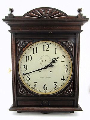 """Circa 1900 HUGE Seth Thomas Lobby Wall Clock with 18"""" Face for Pickup Only"""