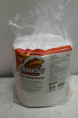 """Lot of 4, Advantage Sanitizing Wipes- 6"""" x 8""""- 900 Count"""
