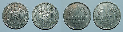 Germany : 2 X One Deutsche Mark - Scarcer Dates - 1954 F & 1961 J