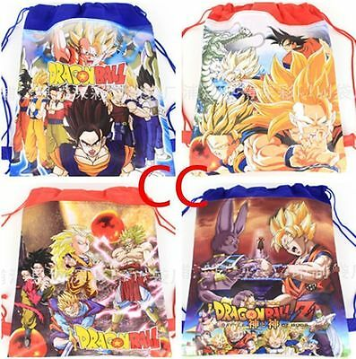 Anime Figure Dragon Ball Z Goku Children Cartoon Bag Drawstring Backpack Bag
