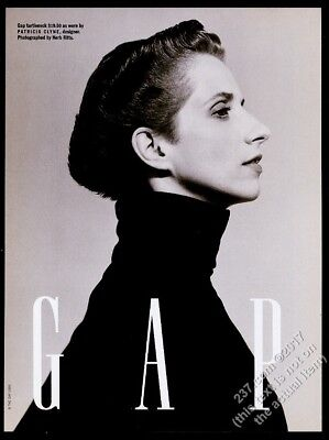 1990 Patricia Clyne photo by Herb Ritts The Gap fashion store vintage print ad
