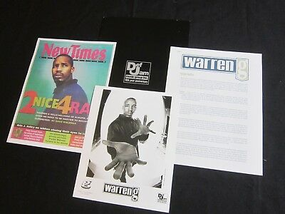 Warren G 'Take A Look Over Your Shoulder' 1997 Press Kit--Photo