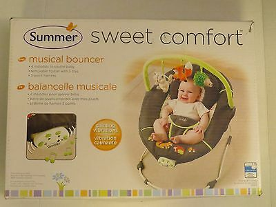 Summer Infant Sweet Comfort Musical Bouncer, Fox and Friends New in the Box