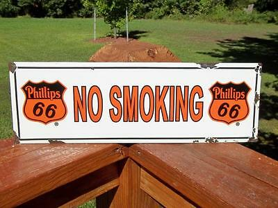 Porcelain No Smoking Phillips 66 Sign Advertising Gas Station Sign Pump Sign