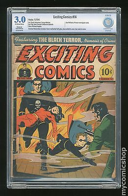 Exciting Comics (1940) #14 CBCS 3.0 RESTORED