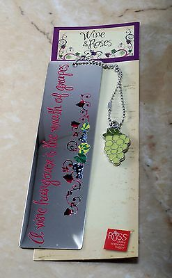 Wine and Roses Bookmark By Russ A Wine Hangover Is a Wrath Of Grapes Silver Tone
