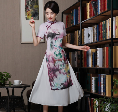 new Asia Cheongsam formal cocktail party prom evening dress bridesmaid floral