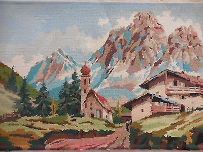 Tapestry Craft Picture Completed Unframed  European Swiss Design Margot 837