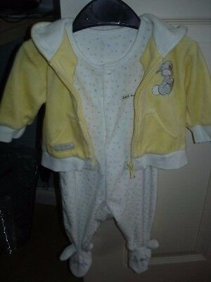 Disney Boys Bambi Thumper Hooded Jacket with Rabbit Baby Grow age 0/3mths