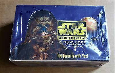 """STAR WARS CCG """"A NEW HOPE""""  LIMITED EDITION SEALED BOX OF 36 x 15 CARD BOOSTERS"""