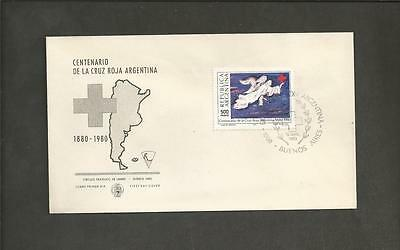ARGENTINA -1980 The 100th Anniversary of the Argentinian Red Cross - F.D.COVER.