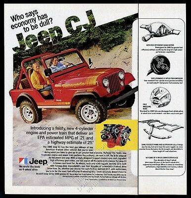 1980 Jeep Renegade red SUV photo vintage print ad