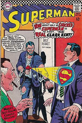 1967 DC Comics Superman Comic Book #198 BC