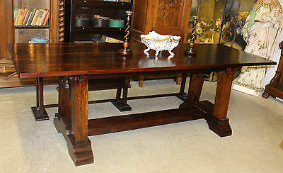 """Antique Style Country French Eight Foot Solid Hardwood Dining Table 33-1/2"""" wide"""