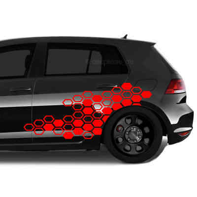 GTI Autoaufkleber Wabenmuster Sticker Set Dekor Tuning Folie car decal Shocker
