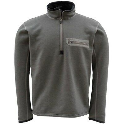 Simms MT Techwool Zip Top ~ Dark Gunmetal NEW ~ Size Large ~ CLOSEOUT