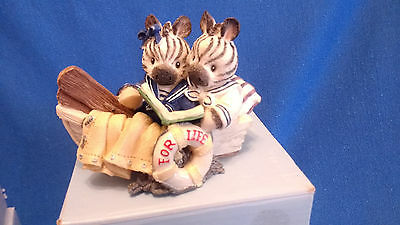 Enesco Noah's Ark We're In the Same Boat Zebra Figurine 1997 Mary Rhyner-Nadig