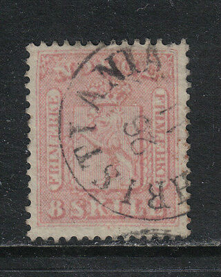 Norway 1863 8sk rose Coat of Arms/Lion--Attractive Topical (9) fine used