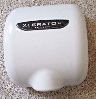 Used Excel XLERATOR  XL-BW Commercial Hand Dryer, White,110/120V