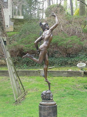 Bronze Flying Mercury Classical Male Nude Finest USA Casting Home Decor Figure