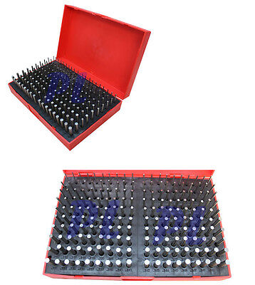 190 Pc M1 .061-.250'' Steel Plug Pin Gage Set Minus Pin Gauges Metal Gage