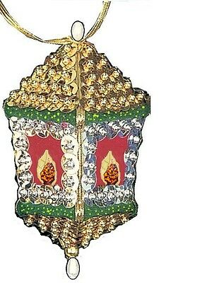 """Victorian Lantern"" kit makes 2 Ornaments Bead Sequin  Christmas Craft"