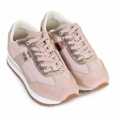 Tommy Hilfiger Women's Angel 2C1 Suede Lace Up Trainer Pink