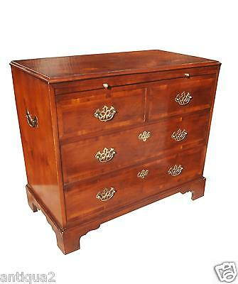 Hekman English George Iii Style Yew Wood Bachelor Chest Drawer Georgian Dresser